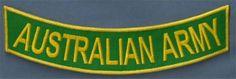 Australian Army Bottom Rocker Back Military Biker Pow Vet MC Club PATCH CUS-0008