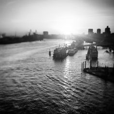 Harbor Sunset Monochrome, New York Skyline, Around The Worlds, River, Sunset, Photo And Video, Black And White, Photography, Outdoor