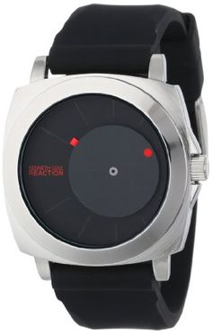 """Kenneth Cole REACTION Unisex RK1327 """"Street"""" Watch with Black Silicone Band"""