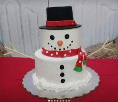 Snowman, Cakes, Outdoor Decor, Home Decor, Homemade Home Decor, Pastries, Torte, Snowmen, Cookies