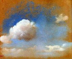 Sky Study, 1869 by Edgar Degas.