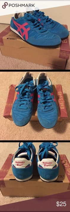 ASICS Onitsuka Tiger Asics serrano electric/pink. Size 8. In very good condition. Asics Shoes Athletic Shoes