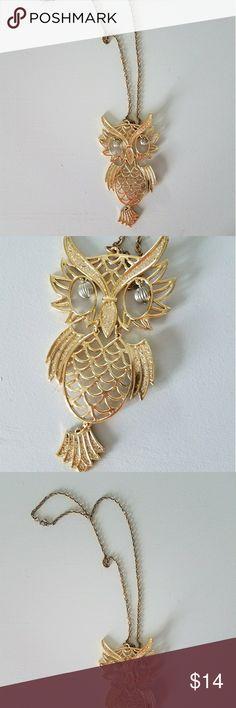 Vintage Owl pendant necklace Vintage Owl pendant necklace - make me an offer! Jewelry Necklaces