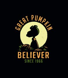 "This epic shirt is back by popular demand. ""Great Pumpkin Believer"" halloween t-shirt. SnorgTees makes super soft, comfy tees and hoodies for men, women and kids.  Discover your favorite shirt today!"