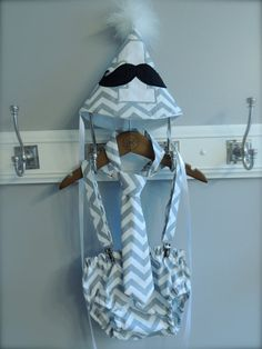 would be so cute for asher  Smash the Cake 1st Birthday Boy Set  Grey Chevron Mustache