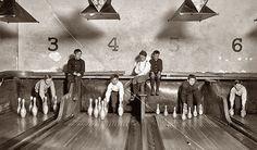 Bowling Alley Pinsetter lavori che non esistono più
