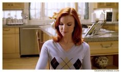 Bree Van De Kamp casual blue sweater Bree Van De Kamp, Desperate Housewives, Blue Sweaters, Classic Looks, Homemaking, Role Models, Style Guides, To My Daughter, Style Me