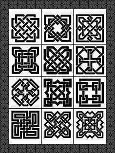 Buy Set Celtic Traditional by on GraphicRiver. Set celtic traditional signs for a frame and design Islamic Art Pattern, Arabic Pattern, Pattern Art, Pattern Design, Border Pattern, Celtic Symbols, Celtic Art, Celtic Knots, Celtic Patterns