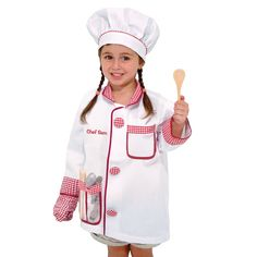 Melissa and Doug Personalized Chef Role Play Costume Set - 204838