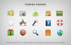 trainee iconset 226 icons by ~emey87 on deviantART