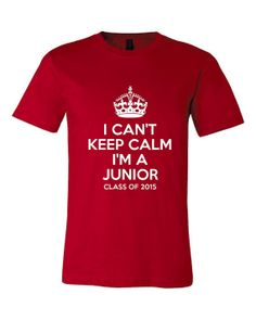 I Can't Keep Calm I'm A Junior Class Of 2015 by BusyMomsCreations, $15.95