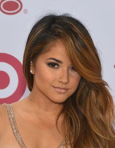Pin for Later: The Trick Becky G Used to Make Her Brown Eyes Pop