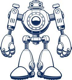 roboter malvorlagen zum ausdrucken xl - kinder zeichnen und ausmalen