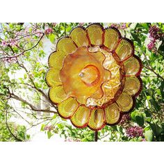 Recycled Glass Egg Plate Flower, Outdoor Garden Decoration, Jarmfarm... ($145) ❤ liked on Polyvore featuring home, outdoors, outdoor decor, yard garden decor, outdoor yard decor, glass flower stems and garden patio decor