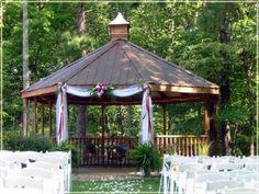 Outdoor Wedding Gazebo at Hocking Hills Resort. Outdoor Wedding Gazebo, Gazebo Wedding Decorations, Decor Wedding, Wedding Ideas, Wedding Locations, Wedding Venues, Wedding Ceremonies, Small Country Weddings, Hills Resort