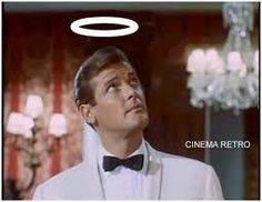 Roger Moore rose to fame playing the charismatic Simon Templar in the mystery/spy thriller smash hit TV show The Saint - Roger Moore, Simon Templar, The Saint Tv Series, Emission Tv, Mejores Series Tv, 60s Tv, Vintage Television, Templer, Old Shows