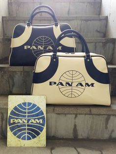 Pan Am Daily Traveler Series Traveling Bag Color : Navy, White パンナム