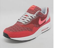 #Nike Air Max 1 Jacquard Gym Red /Laser Crimson-Light Crimson #sneakers