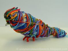 Use Your Coloured Pencils: Aboriginal Inspired Fibre Sculptures