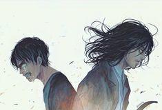 Attack on Titan (Shingeki No Kyojin) Armin, Eren And Mikasa, Levi X Eren, Attack On Titan Fanart, Attack On Titan Eren, Manga Anime, Anime Art, Aot Anime, Ereri