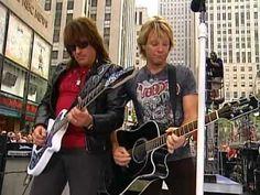 "Bon Jovi - Live in ""Today Show"" 2005 [FULL] Bon Jovi Live, Jon Bon Jovi, Bon Jovi Videos, 80s Rock Bands, Music Web, Crush Love, The Power Of Music, My First Crush, Today Show"