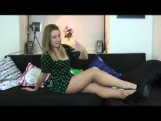 Rhianwen compares 2 pairs of sheer tights - YouTube