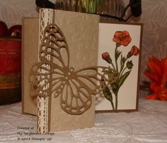 Creative Blog Hop, Butterfly Basics, tri-fold, Stampin' Up! @ My Tanglewood Cottage
