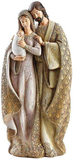 JOSEPH'S STUDIO Roman Faux-Wood Holy Family Figurine
