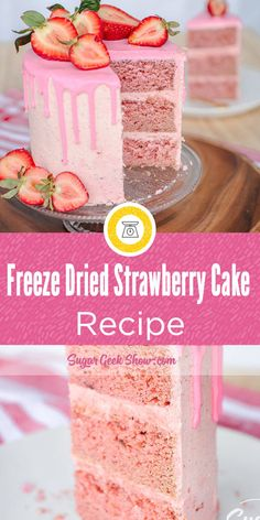 Freeze Dried Strawberry Cake Recipe The post Feeze dried strawberry cake recipe from scratch Strawberry Cake From Scratch, Cake Recipes From Scratch, Freeze Dried Raspberries, Freeze Dried Fruit, Strawberry Shortcake Recipes, Strawberry Cake Recipes, Strawberry Birthday Cake, Food Cakes, Cupcake Cakes