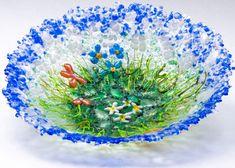 Sea Garden bowl by artist Cheryl Sattler. See more of her portfolio at www.ArtsBusinessInstitute.org