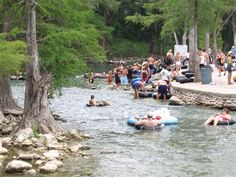 Tubing on the Guadalupe River, Texas