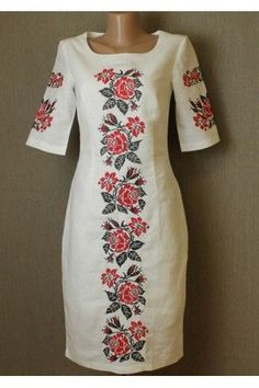Ideas for embroidery patterns vintage mexican embroidered dresses Embroidery On Clothes, Embroidery Suits, Embroidered Clothes, Mexican Embroidered Dress, Ethno Style, Flower Embroidery Designs, Embroidery Patterns, Mexican Dresses, Indian Designer Wear