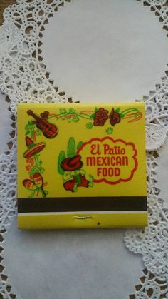 Vintage El Patio Mexican Food Matchbook Long Beach, CA collectible by kaitlynngee on Etsy