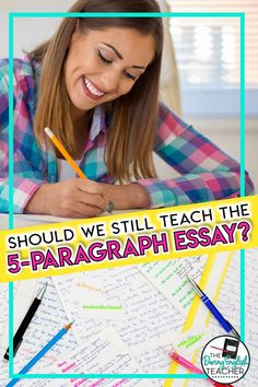 Teaching tips for teaching the multi-paragraph essay in the middle school ELA or high school English classroom. Should teachers still teach the five-paragraph essay? Here's an argument for and against this structured writing format. High School Writing, Middle School Reading, Middle School Teachers, Teaching Writing, Teaching Tips, Essay Writing, Writing Lesson Plans, Writing Resources, Writing Activities
