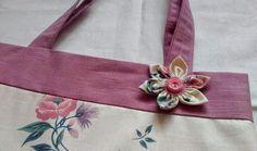 torba, torba lila, kolor lila, kwiatek uszyty ręcznie