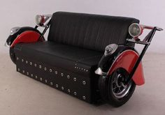 Motorcycle Couch - this is really awesome!   #MotoLove