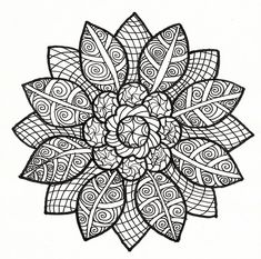 Sunflower Mandala Coloring Pages - Hi coloring lovers! If you are looking for sites giving coloring file like mandala sunflower pictures, then you will Adult Coloring Pages, Mandala Coloring Pages, Colouring Pages, Printable Coloring Pages, Coloring Sheets, Coloring Books, Mandalas Drawing, Doodle Coloring, Zen Doodle