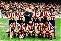 Equipos de fútbol: ATLÉTICO DE MADRID contra Burgos 05/12/1976