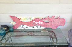 4 Foot wood Glitter Mermaid wall art. by SerendipitySurfShop