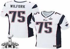 New England Patriots #75 Vince Wilfork 2015 Super Bowl XLIX White Elite Jersey