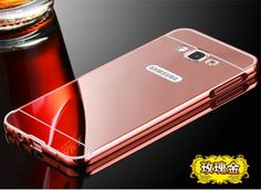 For Samsung Galaxy A3 A5 A7 A8/ New Luxury High Quality Mirror Aluminum Case Metal Frame Ultra Slim Acrylic Back Cover Metallic