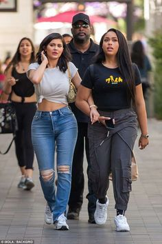 Just the girls! Jenner strolled arm-in-arm with her BFF Jordyn Woods... #kyliejenner