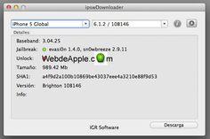 Bájate los firmware de tu iPhone, iPad, iPod o Apple TV con IPSWDownloader