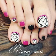 Pretty Nails Art Pedicure Designs, Pedicure Nail Art, Diy Nail Designs, Toe Nail Art, J Nails, Simple Toe Nails, Pretty Nail Art, Perfect Nails, Nail Arts