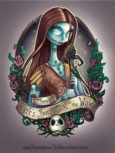 disney princess with tattoos | Disney Princess Pin Up Girls Tattoos – Sally, the nightmare before Christmas