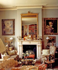 Drawing Room of Lady Diana Cooper - Little Venice London. Excerpts from The Englishwoman's Bedroom, Derry Moore photographer, Alvilde Lees- Milne-editor