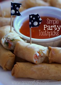 Simple Party Toothpicks  Holiday Appetizers inspiration! #shop