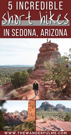 5 Incredible (Short) Hikes in Sedona, Arizona - There are TONS of hiking trails around Sedona, AZ, but if you're looking for some that are both easy and provide mind-blowing views of the Sedona Red Rock landscape, head out on one of these 5 fantastic short, easy hikes in Sedona that'll blow your mind. #sedona #hiking #shorthikes #arizona #usa Arizona Usa, Sedona Arizona, Sedona Hikes, Sedona Red Rock, Bucket List Destinations, Backpacking Tips, Round Trip, Hiking Trails, Nice View