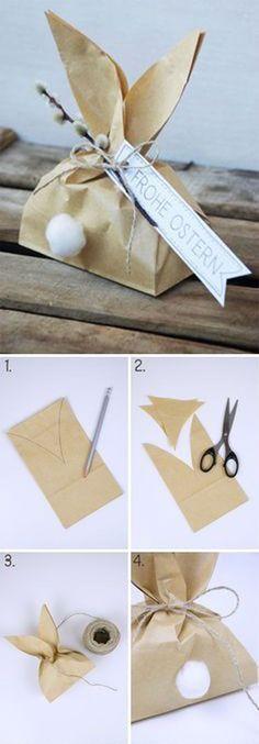 DIY Cute Rabbit Gift Packaging | 30 свежих идей для оформления подарков - Ярмарка Мастеров - ручная работа, handmade #giftpackaging