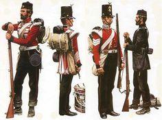 The Military Artwork of Pierre Turner British Army Uniform, British Uniforms, British Soldier, Men In Uniform, Military Art, Military History, Military Uniforms, Military Drawings, Crimean War